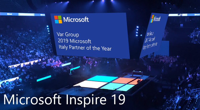 "Var Group ha vinto il premio ""Microsoft Country Partner of the Year"" per l'Italia e verrà premiata ufficialmente durante Microsoft Inspire."