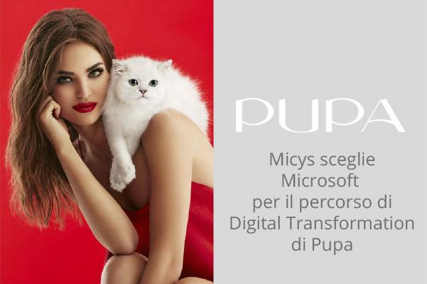 Pupa sceglie Azure, Sharepoint e Office 365 per migliorare la collaborazione tra i dipendenti delle varie sedi e delle diverse funzioni aziendali.