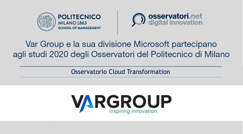 ar Group è sponsor dell' Osservatorio Cloud Transformation per creare e diffondere la conoscenza del Cloud, abilitatore della digital transformation.