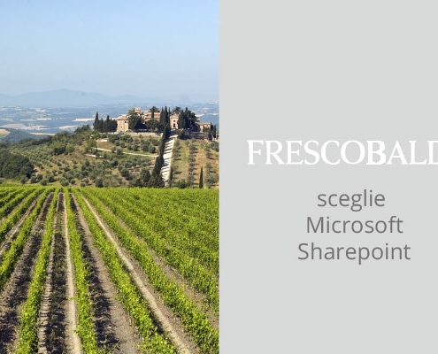 Var Group ha realizzato per Frescobaldi un portale su Microsoft SharePoint per fornire agli agenti un unico punto di accesso alle informazioni aziendali.