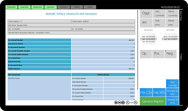 Schermata Prime365 Cocai Retail